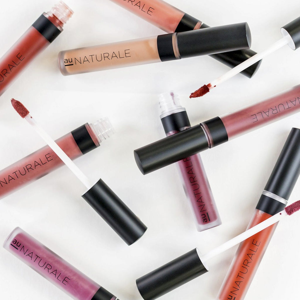 AU Naturale - su/Stain Liquid Lip Stain in Crushed Bloom, Hero, Marsala, On Pointe