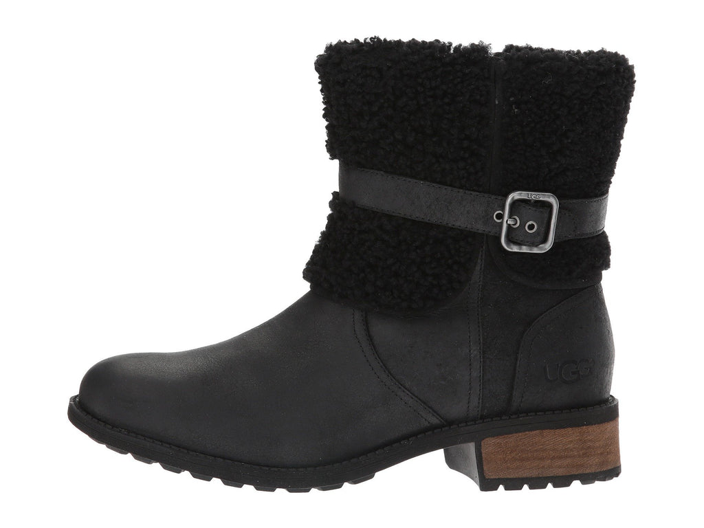 UGG Women Blayre II Shearling Genuine Cuff Suede Boots 1008220 - Black