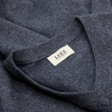 Men Cashmere V-neck Dark Gray Sweater
