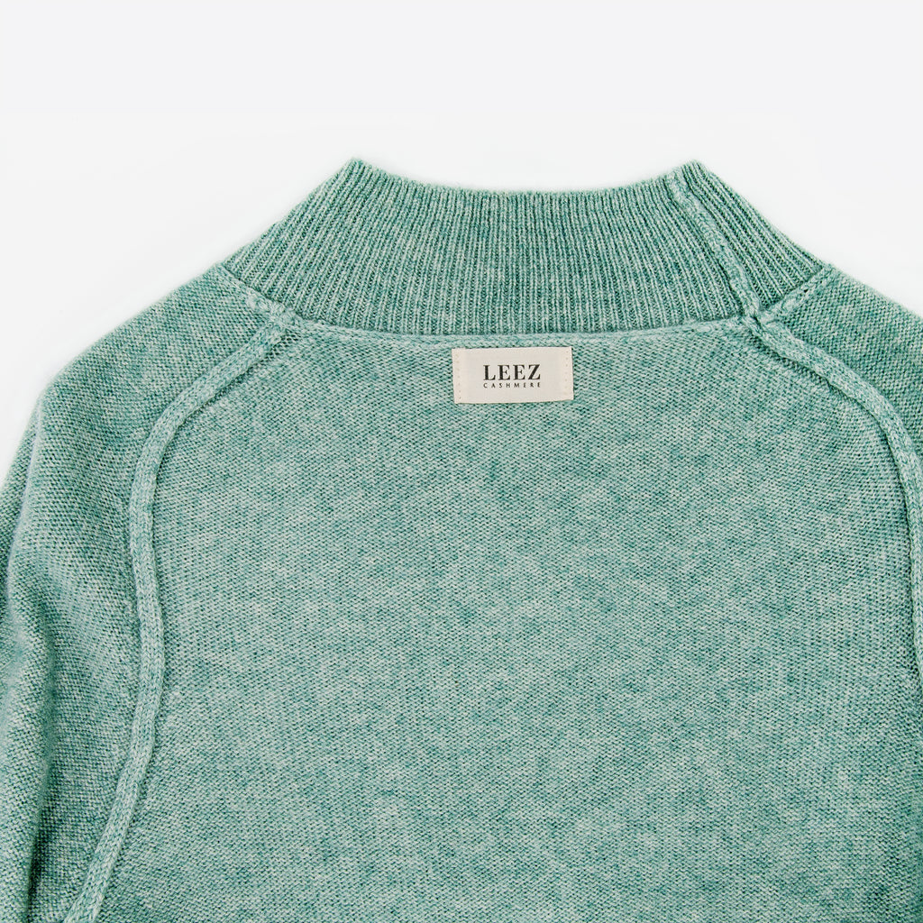 Women Cashmere Turtleneck Sweater Jade-green