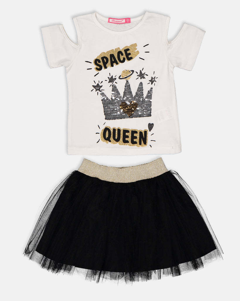 QUİN SEQUIN 2 PIECES WHOLESALE KID GIRL TUTU SKIRT SET