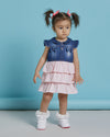 2 PIECES WHOLESALE BABY GIRL JEAN DRESS