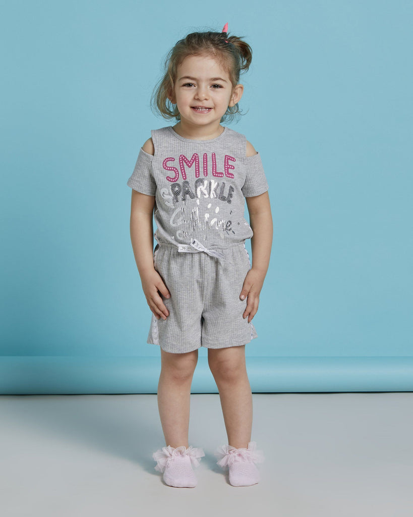 SMILE SPARKLE SHINE WHOLESALE KID GIRL ROMPER
