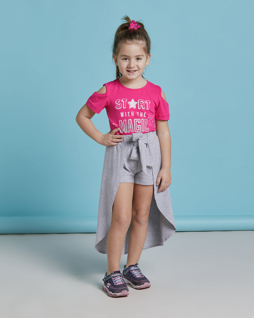 START WITH THE MAGIC SKORT 2 PIECES WHOLESALE KID GIRL SET