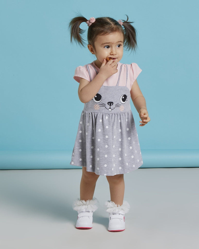 CUTE BUNNY WHOLESALE BABY GIRL DRESS