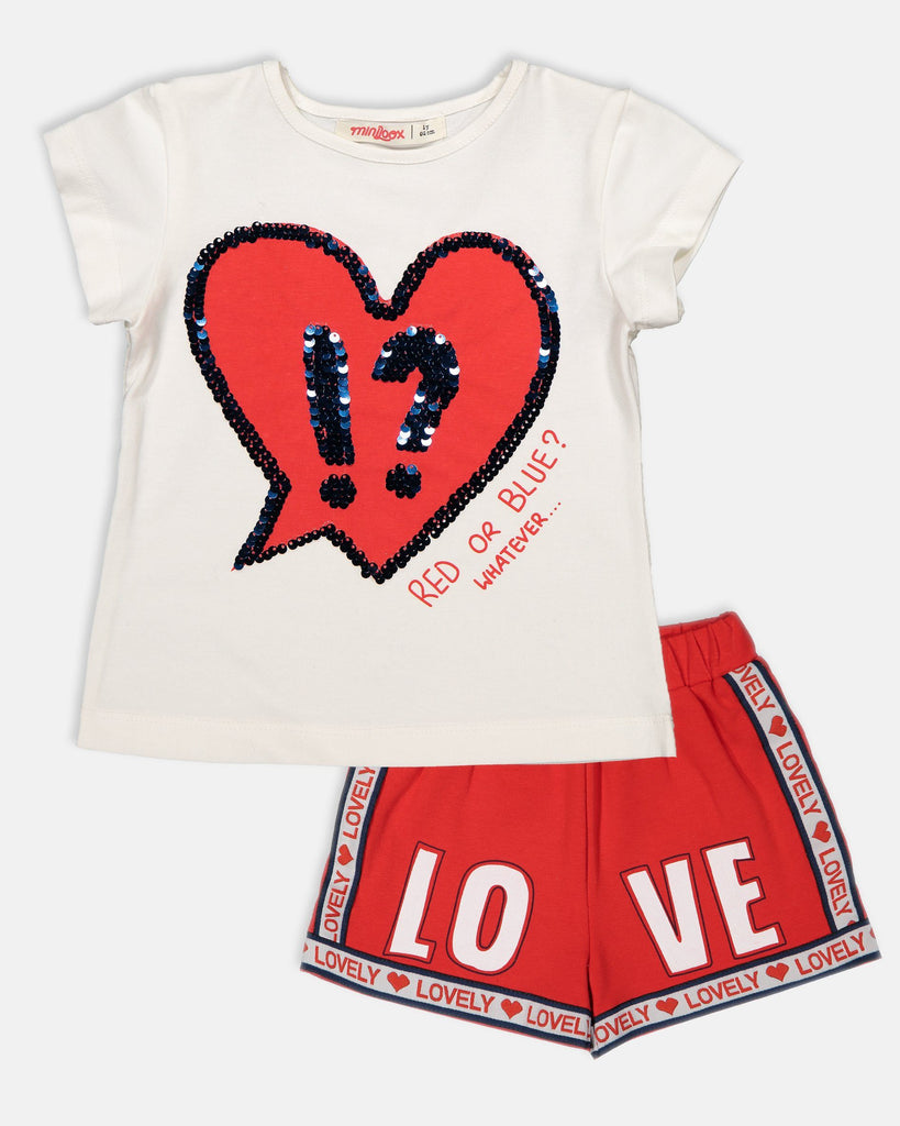 SPORT LOVE 2 PIECES WHOLESALE KID GIRL OUTFIT SET