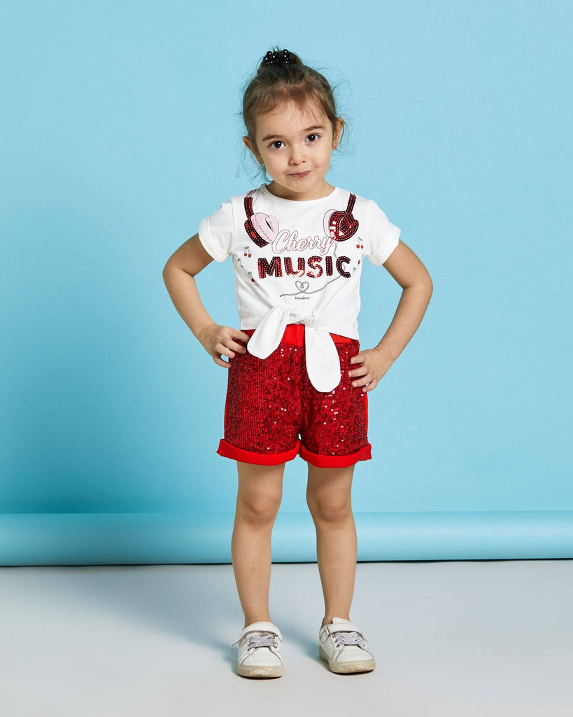 MUSIC SEQUIN SHORT 2 PIECES WHOLESALE KID GIRL OUTFITS SET