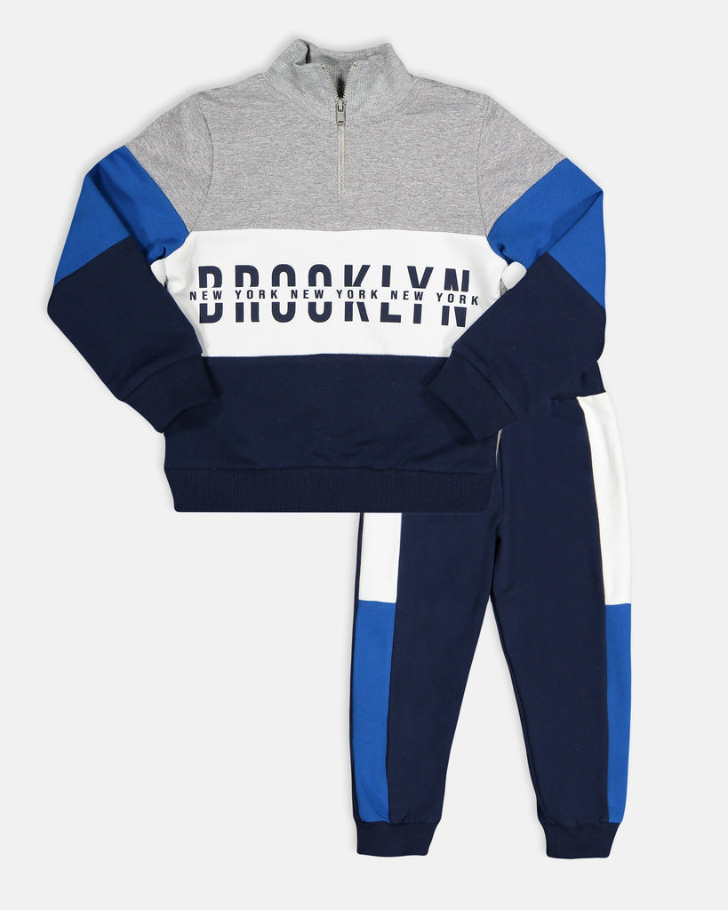 BROOKLYN  2 PIECES WHOLESALE KID BOY TRACKSUIT SET