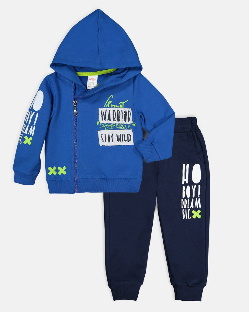 WARRIOR STAY WILD 2 PIECES WHOLESALE KID BOY TRACKSUIT SET
