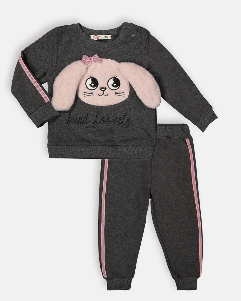 MOBILE BUNNY EAR 2 PIECES WHOLESALE BABY GIRL TRACKSUIT SET