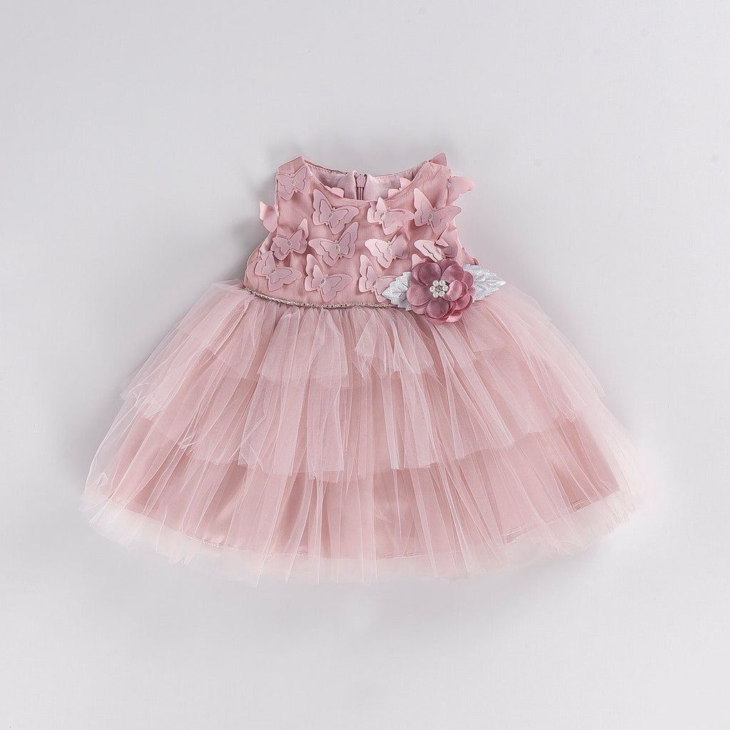 BUTTERFLY BABY GIRL GOWN PARTY DRESS WHOLESALE