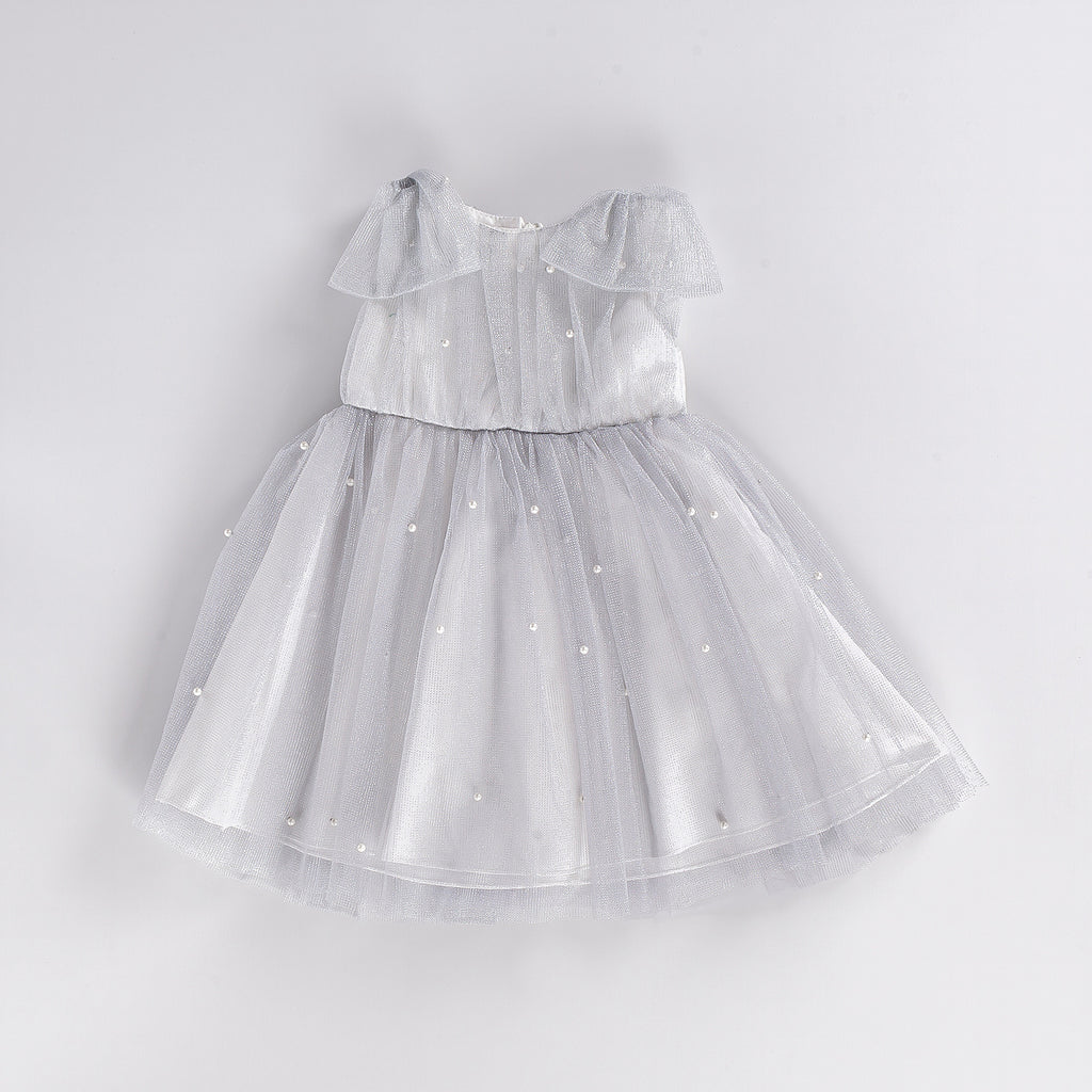 TINSELRY PEARLY TULLED KID GIRL DRESS WHOLESALE