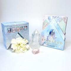 Starseed oracle cards and crystal pack