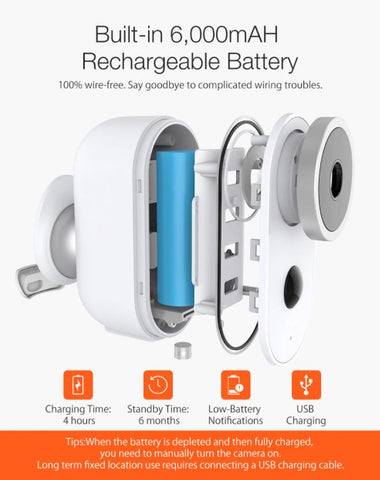 rechargeable wireless security camera
