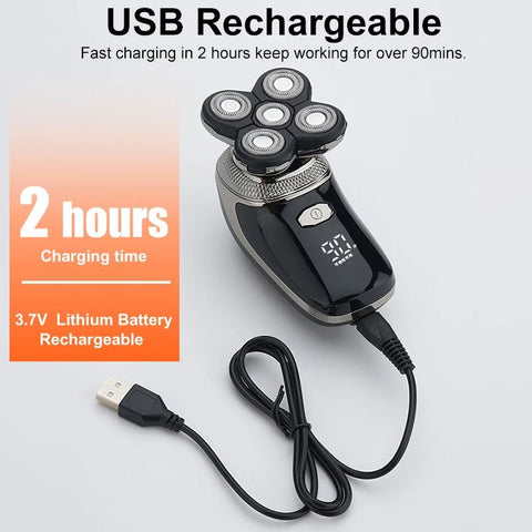 long charge rotary shaver