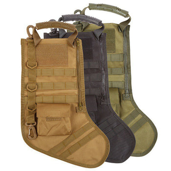Tactical Christmas Stocking Molle Military Christmas Stocking Desert Woodland