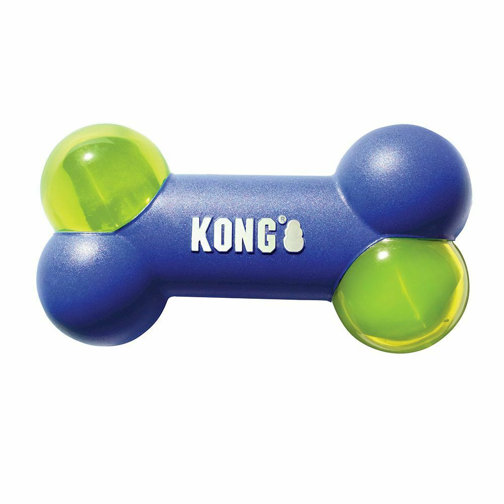 Kong Squeezz Action Bone Dog Toy Blue