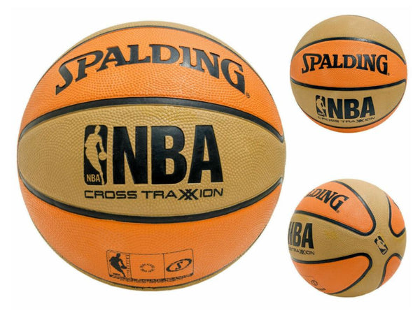 "Spalding NBA Cross Traxxion Basketball - 27.5"", Khaki/Orange"