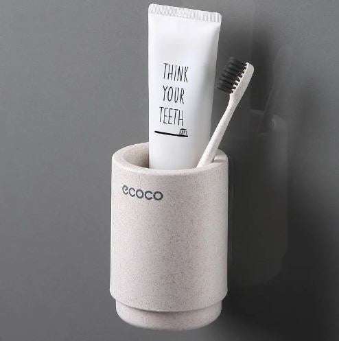 Wall Mount Toothbrush Holder Wash Cup Toothpaste Portable Hanging Gargle Cup