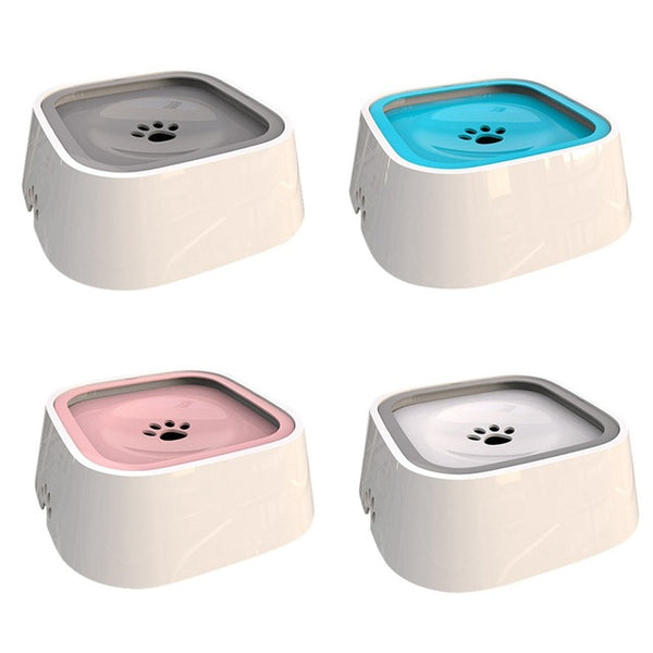 1.5L Pet Bowl Floating Anti-overflow Design Dog Cat Water Bowl Portable Hunting Dog