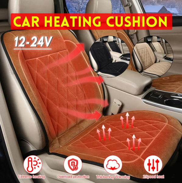 12V 24V Universal Heated Car Seat Cushion Cover Seat Heater Warmer Winter Cushion
