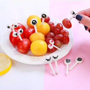 Cartoon eyes food picks- 10 pack