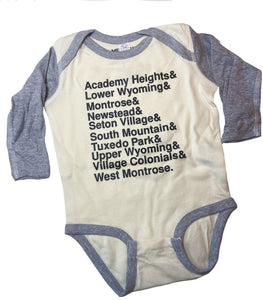 South Orange Neighborhood Baseball Shirt Infant Romper