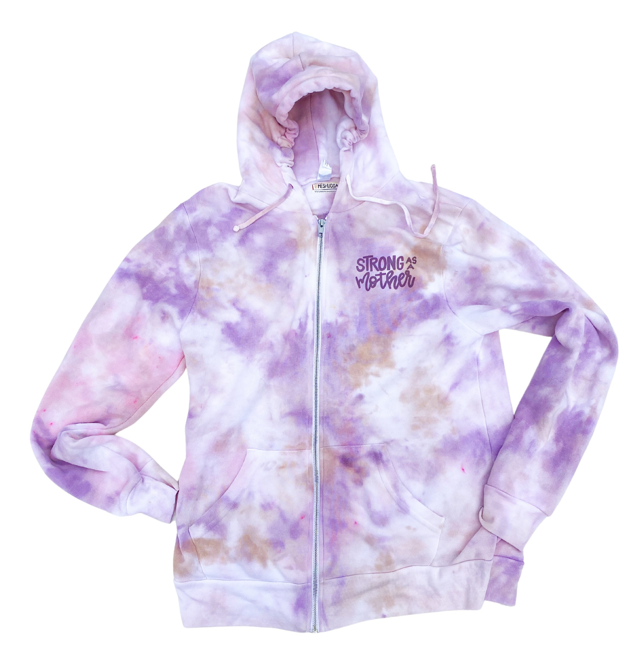 Strong as a Mother Tie Dye Hoodie