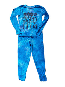 You Spin Me Right Round Tie Dye Big Kid Hanukkah Pajamas