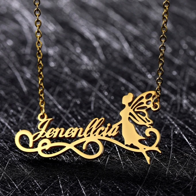 Angel Name Necklace-Handmade Joy
