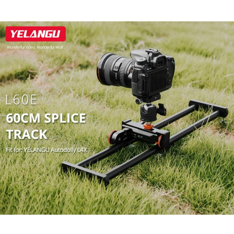 60cm Splicing Slide Rail Track + Trolley Rail Buckle voor SLR-camera's / videocamera's (zwart)