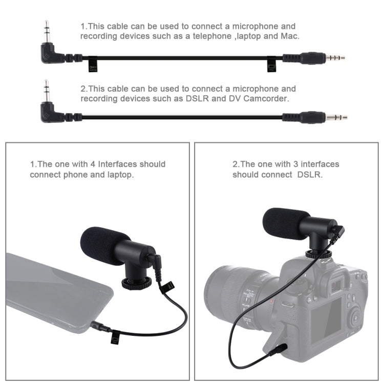Shape Portable Handheld DV Bracket Stabilizer + LED Studio Light + Video Shotgun Microphone Kit met Cold Shoe Statiefkop voor alle SLR-camera's en DV-camera voor thuis