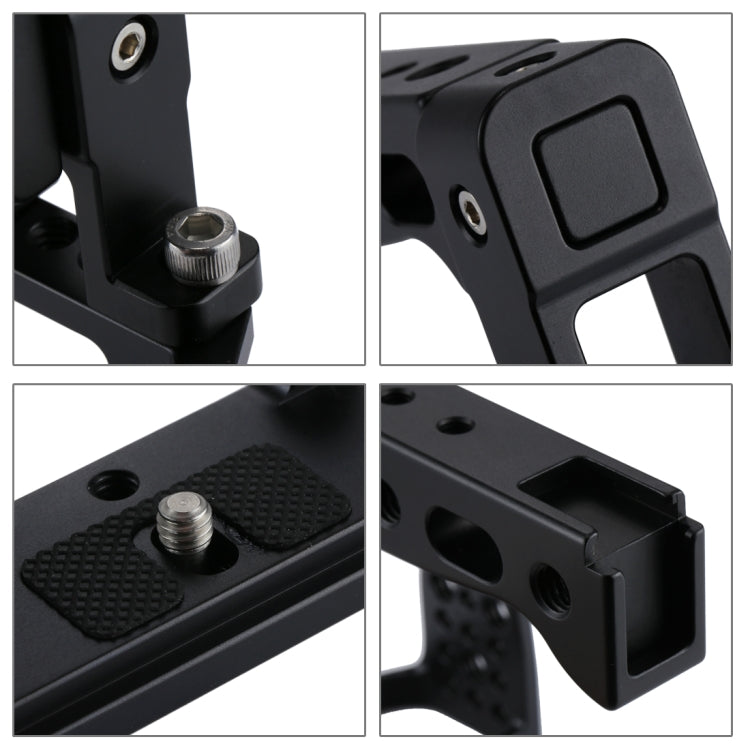 Camera Cage Handle Stabilizer voor Sony A6300 / A6000 (zwart)