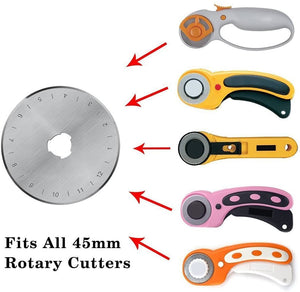 45mm Rotary Cutter Blades (2 Blades)