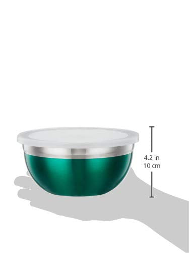 3 PCS. MULTICOLOR STORAGE BOWL SET WITH PLASTIC LID