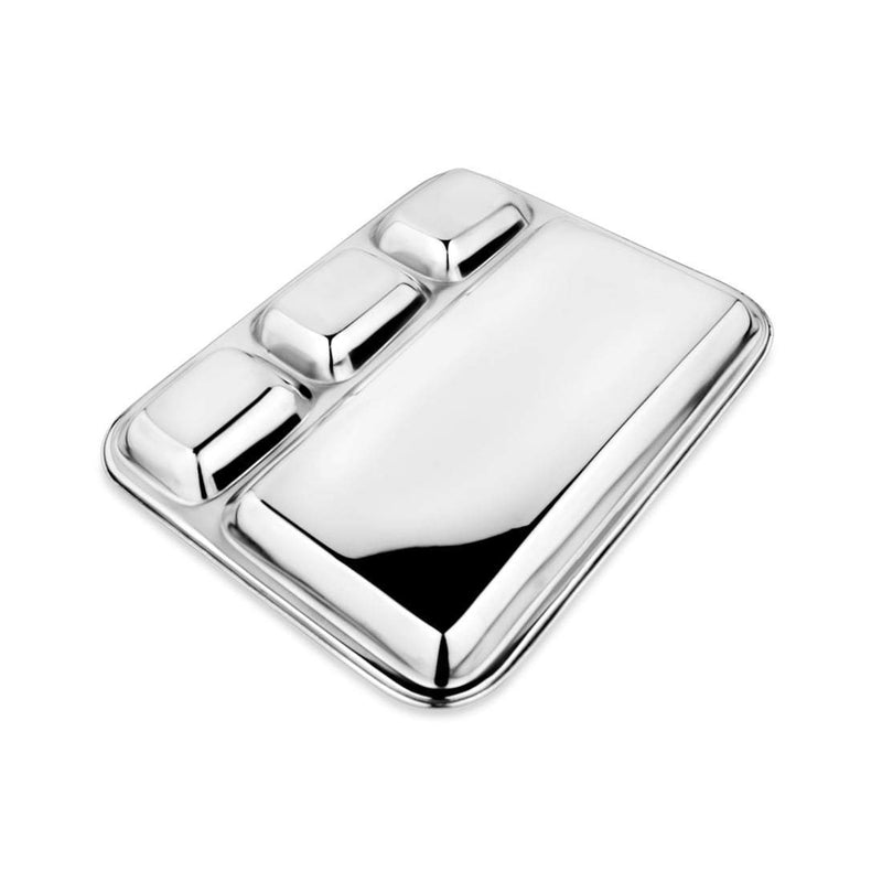 JAGDAMBA CUTLERY LIMITED Dinner Set Stainless Steel Compartment Plate