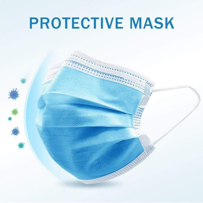 ShriandSam Disposable 3-Ply Face Mask (with Nose Pin) - Set of 25