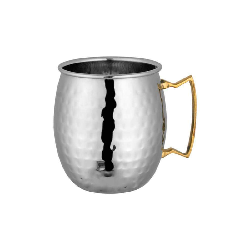 JAGDAMBA CUTLERY LIMITED Bar Tool Mug - Copper Handle- Hammered Moscow Mule