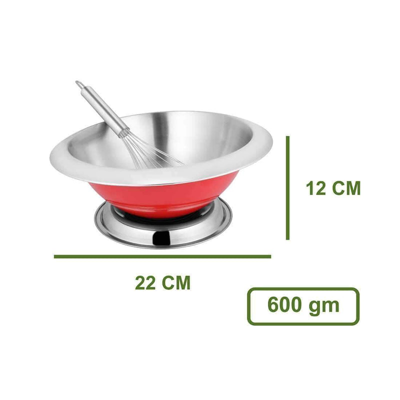 JAGDAMBA CUTLERY LIMITED Daily Needs Bowl with Whisk