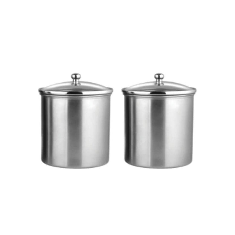 JAGDAMBA CUTLERY LIMITED Serveware 2 PCS Candy Storage Canister with air tight glass lid - 1000 ML