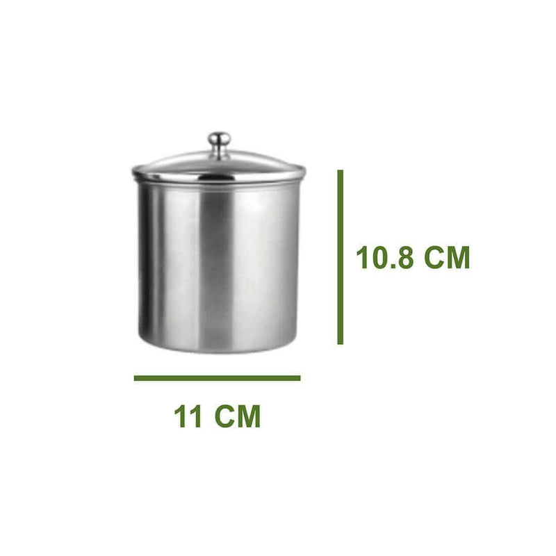 JAGDAMBA CUTLERY LIMITED Serveware 2 PCS Candy Storage Canister with air tight glass lid - 700 ML