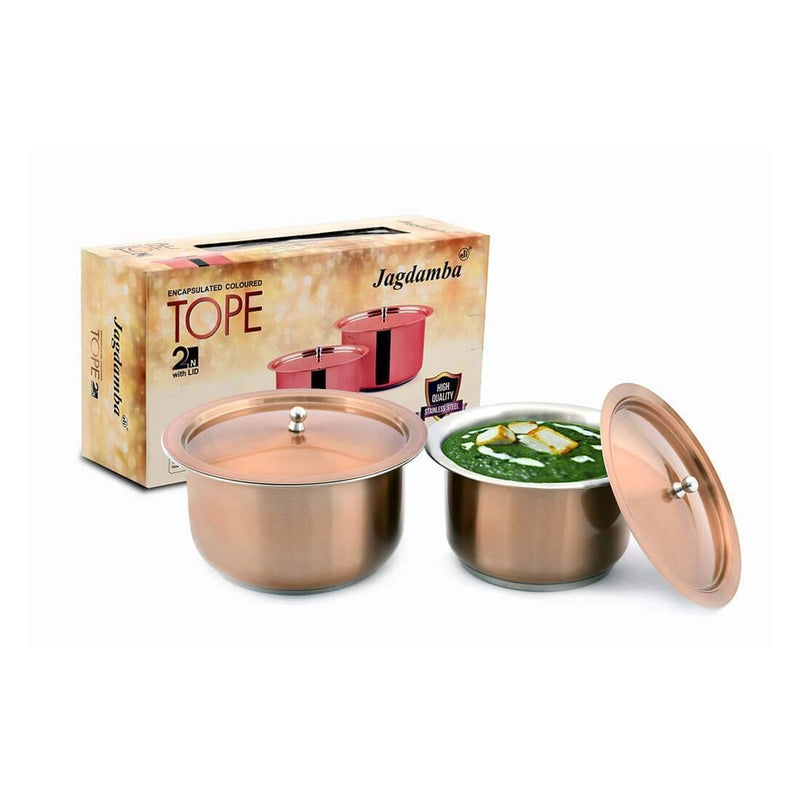JAGDAMBA CUTLERY LIMITED Serveware 2 PCS Copper Tope Set