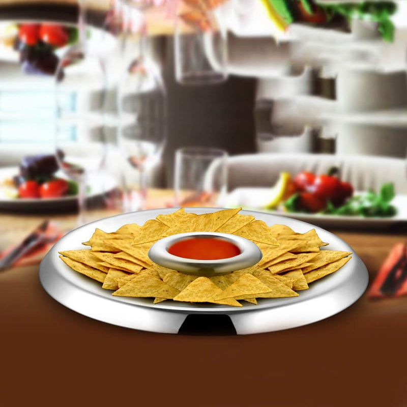 JAGDAMBA CUTLERY LIMITED Serveware Chip & Dip High Quality Stainless Steel