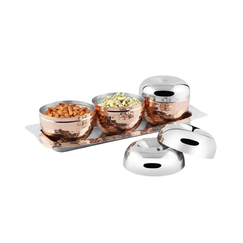 JAGDAMBA CUTLERY LIMITED Serveware Stainless Steel Canister with Tray: Volga