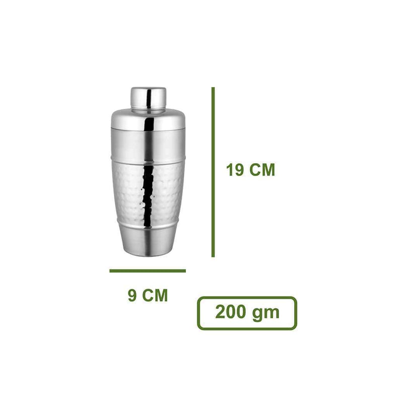 Jagdamba Cutlery Pvt Ltd. Bar Tool Cocktail Shaker- Hammered