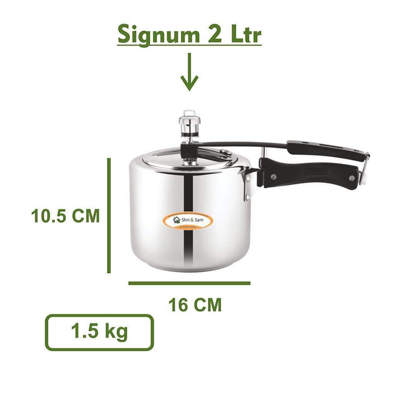 Jagdamba Cutlery Pvt Ltd. Cookware Stainless Steel Cooker - Signum