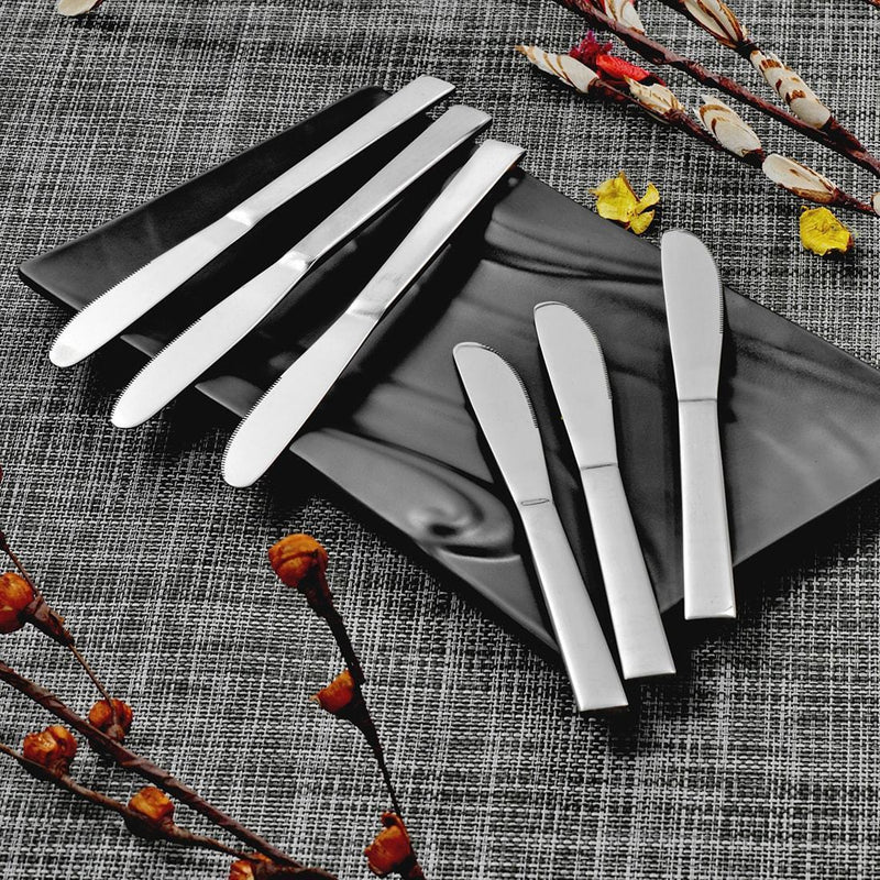 Jagdamba Cutlery Pvt Ltd. Cutlery 6 PCS Dinner Knife - Lotus Plain (6 PCS Dinner Knife)