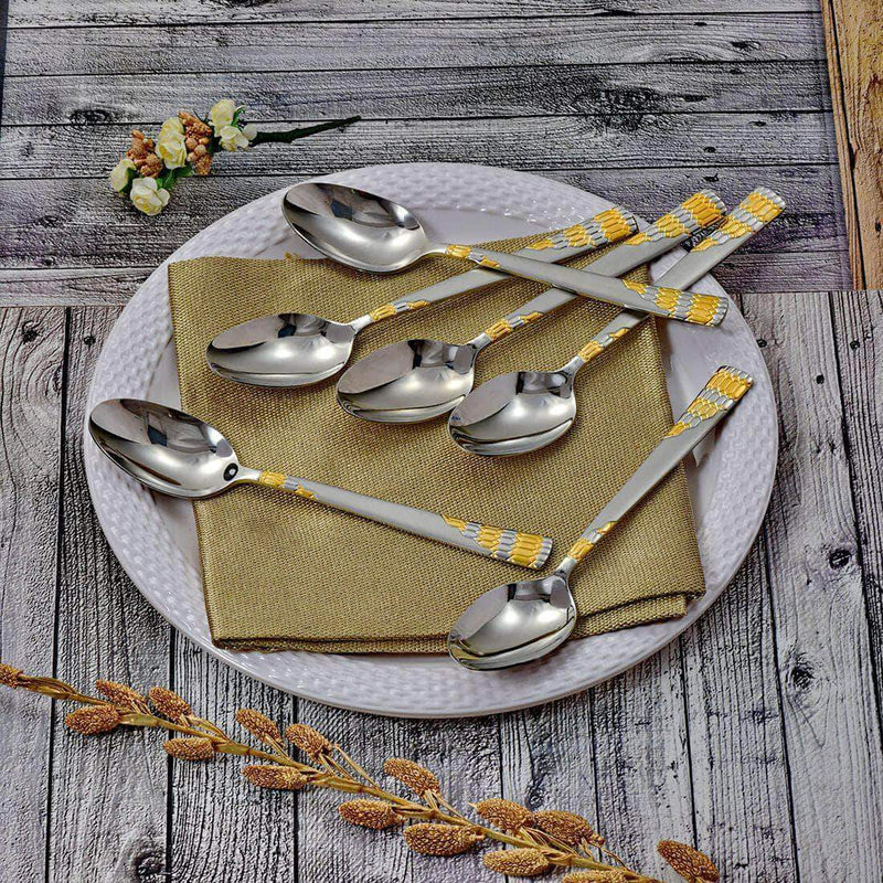 Jagdamba Cutlery Pvt Ltd. Cutlery 6 PCS Dinner Spoon - Lavish