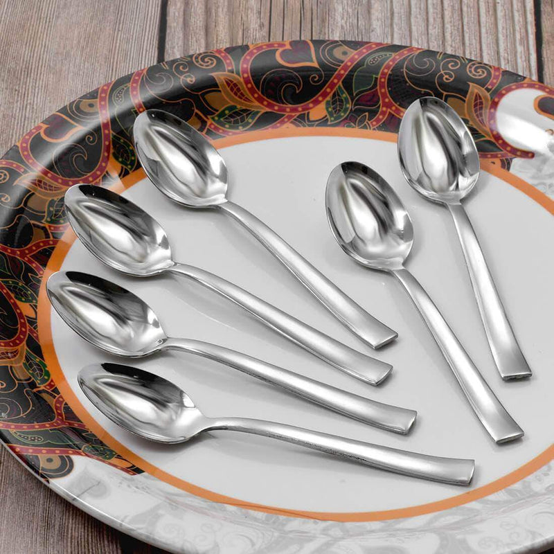 Jagdamba Cutlery Pvt Ltd. Cutlery 6 PCS Dinner Spoon - Lotus Plain