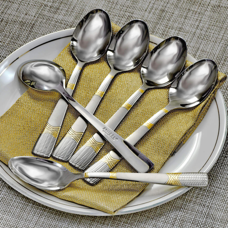Jagdamba Cutlery Pvt Ltd. Cutlery 6 PCS Dinner Spoon - Lush